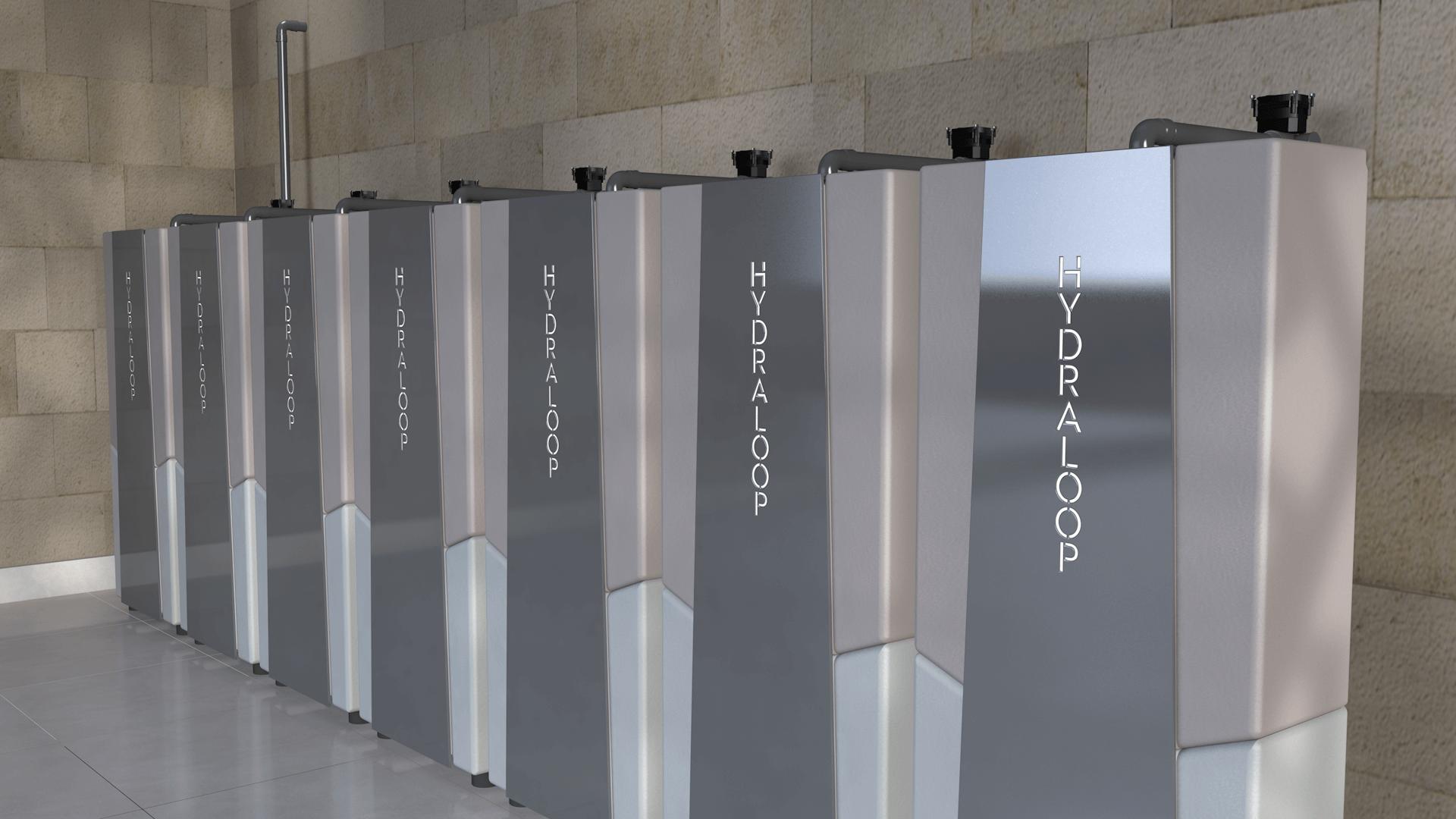 Hydraloop kaskáda - zařízení pro recyklaci šedé vody